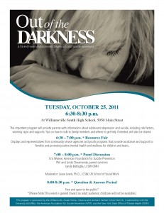 Out of Darkness Parent Program Flyer